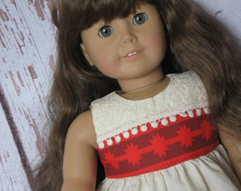 "Dress-Doll Clothes fit American Girl & other 18"" dolls-Moana inspired-Ready to Ship-Disney World Disneyland Maui Pua"