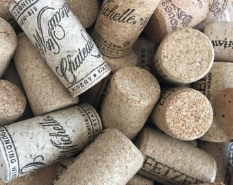 50 Used Wine Corks Natural Wine Corks , White Wine Corks for Crafts