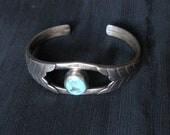 Vintage Turquoise Bracelets Cuff Bracelet Silver Vintage Jewelry