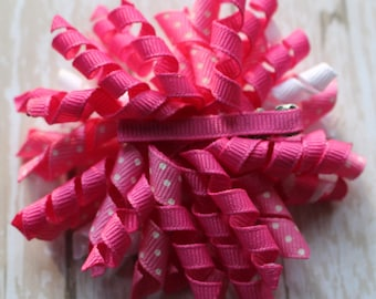 Pretty in Pink Korker Spirit Hair Bow