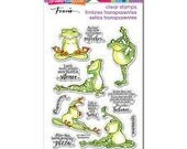 Stampendous Stamps, Frog Stamps, Frogs, Rubber Stamp, Paper Craft, Card Making, Stamping, Acrylic Stamps