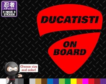 Ducatisti On Board Ducati Vinyl Decal