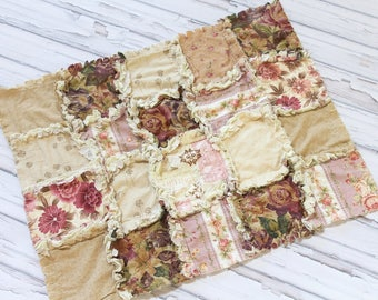 Ready To Ship -  Modern Rag Quilt  - Southern Chic