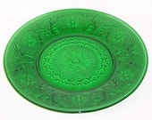 Anchor Hocking Fire King Forest Green SANDWICH 9 Inch DINNER PLATE