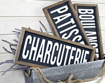 Boulangerie Sign - French Farmhouse Market Signs - Patisserie Sign - Rustic Farmhouse Sign - Charcuterie - French Country Decor
