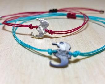 Beach Bracelet, Beach Bracelets Women, Beach Bracelet Men, Seahorse Jewelry, Beach Charm Bracelet, Seahorse Bracelet, Beach String Bracelet