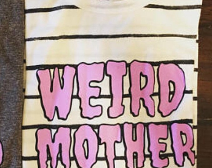Preoder for April Weird Mother Special Shirts, black and white stripe