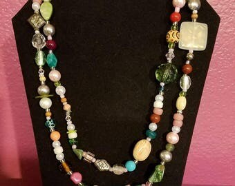 Earth Toned Wrap Necklace