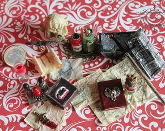 Dollhouse miniature Vampire's set