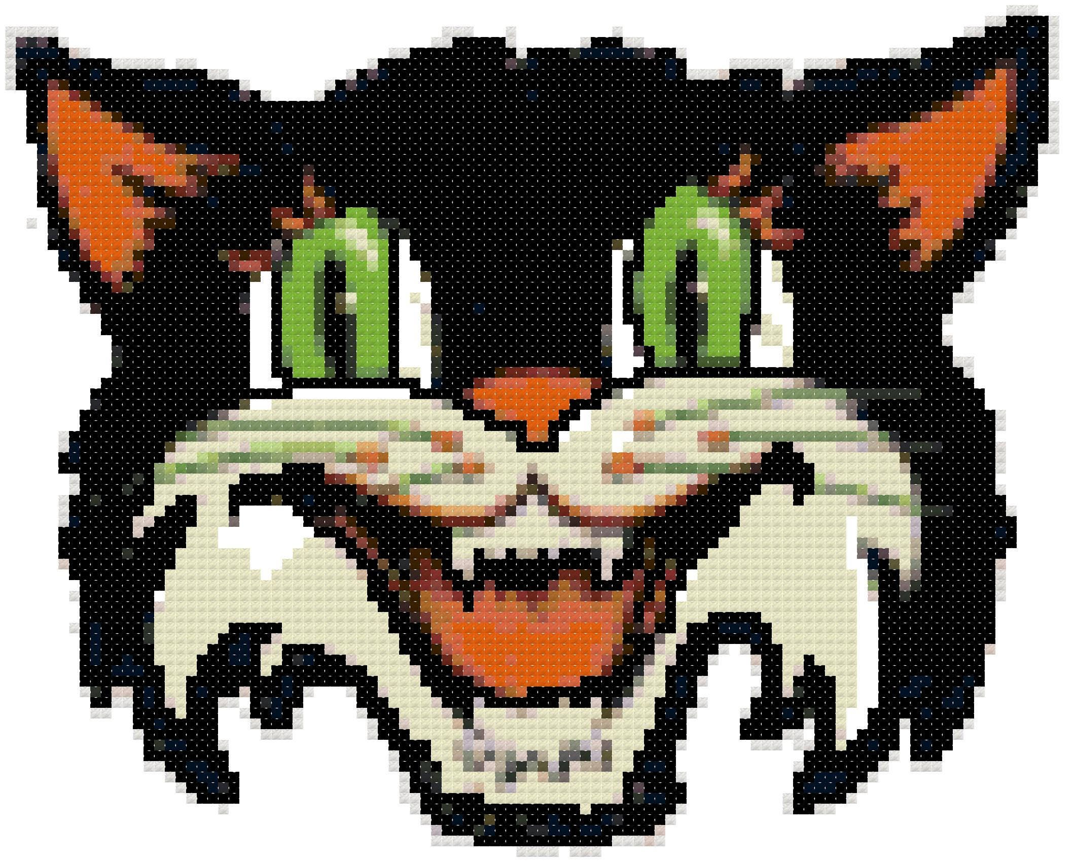 Vintage Halloween Cat Mask Cross Stitch Pattern, Digital Download ...