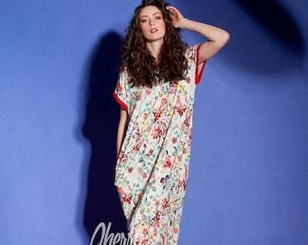 SALE ON 20 % OFF Floral maxi dress/ Caftan/ Maxi dress Summer/ Casual dress/ Long maxi dress/ Kaftan/Plus size dress/Plus size clothing/Beac