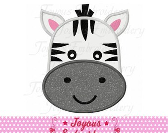 Instant Download Zebra Face Applique Machine Embroidery Design NO:2376