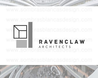 OOAK Premade Logo Design - Geometric Building - Perfect for an architecture studio or construction business