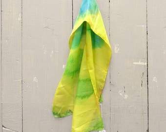 Hand Painted Silk Scarf 100% of the profits go directly to artists with disabilities Item 620 Jay N.