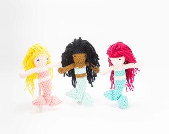 Mermaid Stuffed Doll - Crochet Mermaid Toy - Amigurumi Mermaid - Baby Gift - Birthday Gift