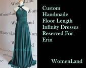 WomenLand : Reserved For Erin Bridesmaids Custom Handmade Dark Teal Green Wedding Party Women Long Infinity Convertible Wrap Dress