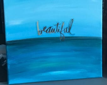 Affirmations: Beautiful (blues)