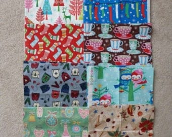 Christmas Fabric - One Yard Cuts & Half Yard Cuts Plus - 8 Different Prints