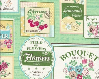 Fruit Labels (Color C) from the 30's Collection by Atsuko Matsuyama for Yuwa of Japan