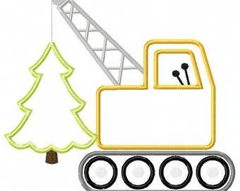 Christmas Crane with Present - Christmas Custom Tee Shirt - Customizable