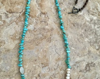 "40"" Turquoise Necklace"