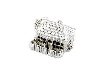Sterling Silver Opening Country Cottage Charm For Bracelets