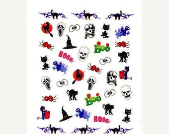 25% OFF SALE Halloween Collection #2 Scrapbooking Stickers/ Nail Decals