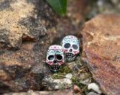 Sugar Skull Studs | Titanium Studs | Sugar Art Earrings | Skull Studs | Hypoallergenic Studs | Dia de los Muertos | Sugar Skulls | Mexican