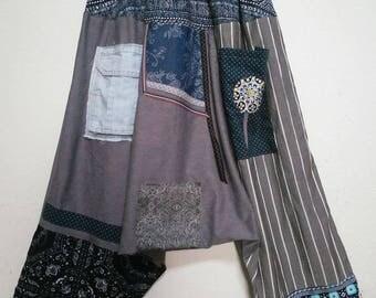 Unique handmade patchwork harem pants