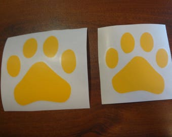 2 Large Dog Rescue Paw Prints Decal Window Paws Sticker Pit Bull Shih Tzu Toy Poodle Lab Chihuahua Shepherd Dachshund Car Glass Sticker Art