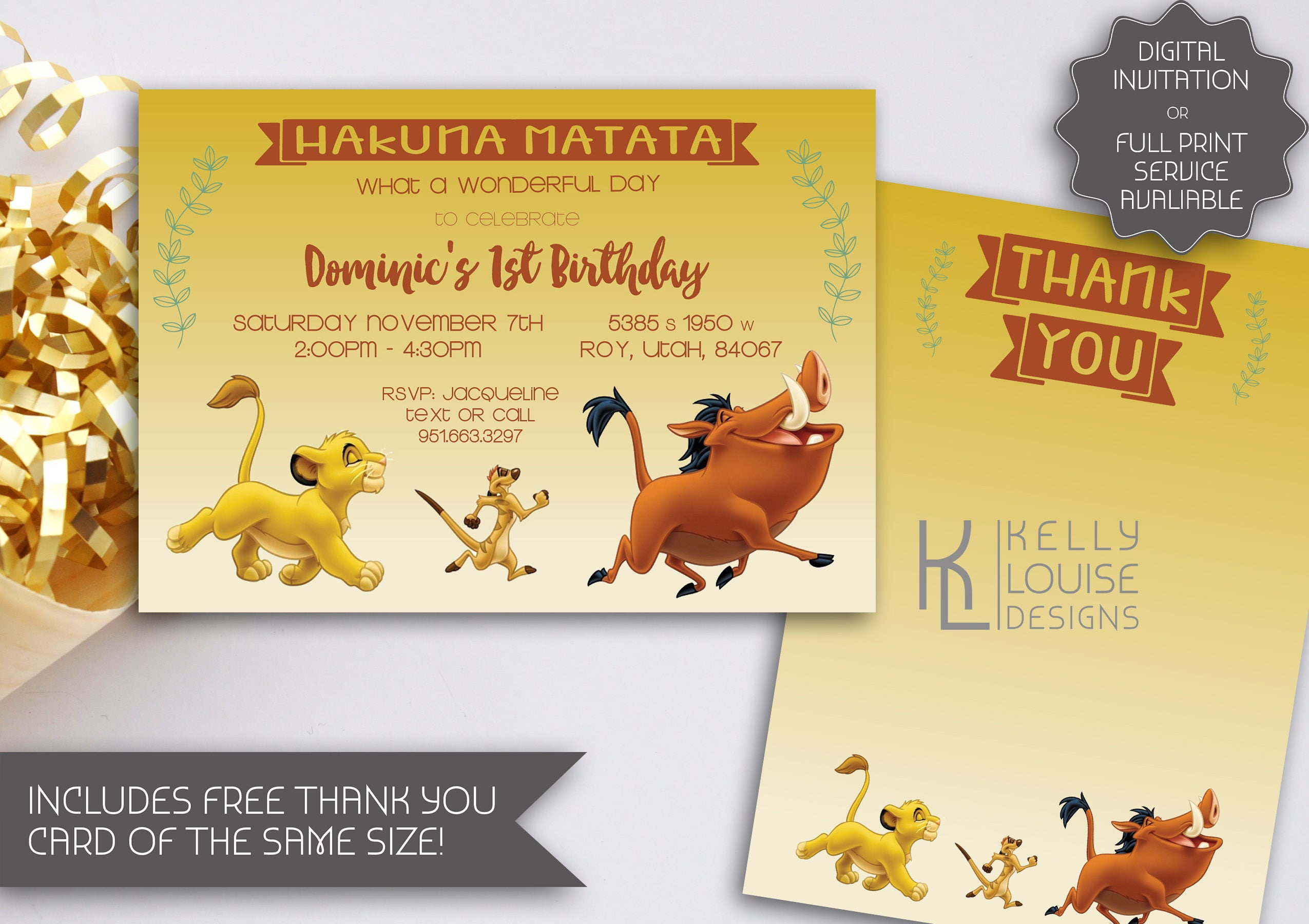 Old Fashioned Lion King Party Invitations Embellishment Invitation