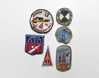 Vintage 70s NARAM PATCH set / 1970s National Association Of Rocketry Patches
