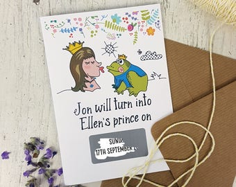 Fairy-Tale Save The Date Cards-Personalised Save the Date-Wedding Cards-Wedding Invitations-Funny Wedding Save The Date-Engagement Invites