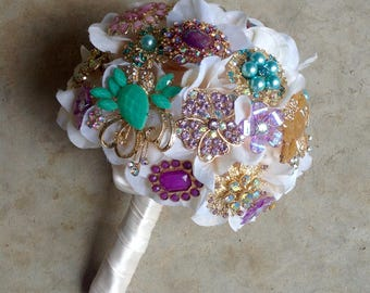Brooch Bouquet | Petaled Brooch Bouquet | Full Price | Ready To Ship | Free Shipping!