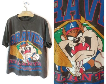 1990s TAZ Tasmanian Devil shirt Size XL Atlanta BRAVES Warner Bros baseball