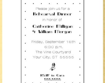 Simple Rehearsal Dinner Invitation