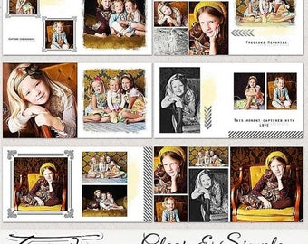 "ON SALE 10x10 Photobook, Album Templates for Adobe Photoshop ""Clear & Simple"""