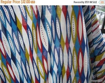 Flat 40% Off Abstract Screen Print Indian Cotton Sari Border Fabric by Yard