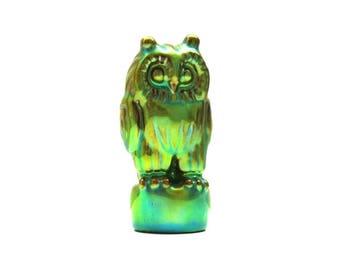 Eosin Owl Figurine / Design Zsolnay Hungary
