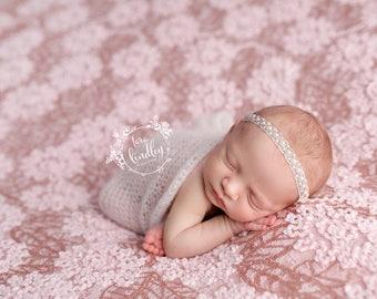 Newborn Photography Fabric Backdrop - Chaunva Backdrop in New Pink - 2 Yards