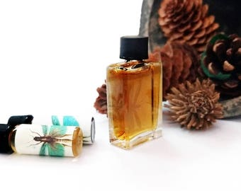 Moss Perfume, WILD WOODS, Chypre Perfume, Mossy Woods, Fir Needle, Real Amber Organic Fragrance 5 ml cruelty free vegan