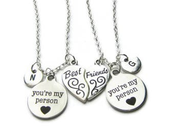 2 You re My Person Best Friends Necklaces, 2 Best Friends Necklaces, Friends Necklaces,  BFF Necklaces, 2 Best Friends , Personalized