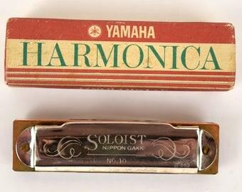 Vintage Yamaha Harmonica No. 10 Soloist C a-440 by Nippon Gakki in original box