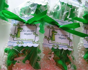 10 Alligator Party Favors, Children, 20 Soaps, Birthday Parties, Special Occasions, Alligators