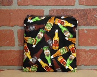 One Sandwich Bag, Reusable Lunch Bags, Waste-Free Lunch, Machine Washable, Beer, Sandwich Sacks, item #SS89