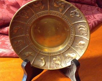 Brass Chinese Zodiac Dish