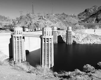 Hoover - Hoover Dam - Nevada- Travel Photography - Home Decor - Wall Art