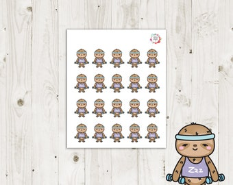 Lazy Sloth Workout Planner Stickers - ECLP Stickers