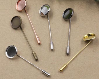 supports 30 silver plated brass safety pin brooch