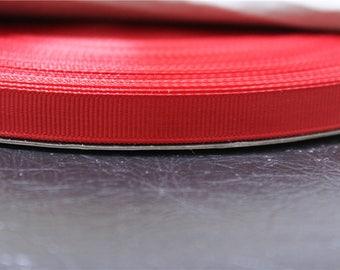 4 meter Ribbon grosgrain Red 1 cm